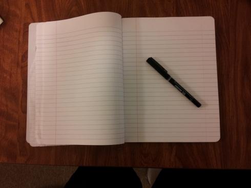 note book pen